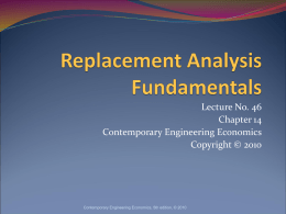 Replacement Analysis Fundamentals