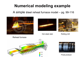 Numerical modeling example: