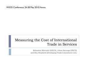 Measuring the Cost of International Trade in Services