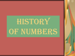 History of Numbers PPT