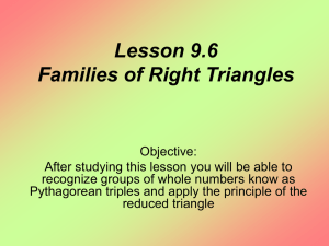 Lesson 9.6 Families of Right Triangles