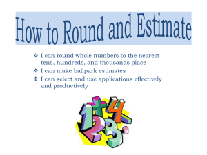 How to Round and Estimate
