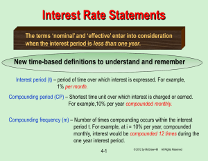 Nominal & Effective Interest Rates