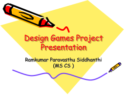 Design Games Project Presentation