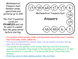 Mathematical Treasure-hunt