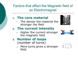 Factors Affecting Magnetization