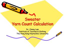 Yarn Component Calculation