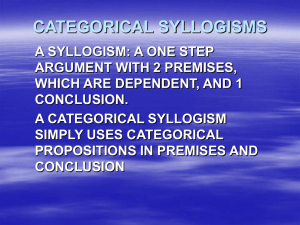Categorical Syllogisms, Chapter 9