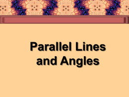 Parallel Lines and Transversals