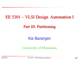 PowerPoint Presentation: EE5301-Partitioning