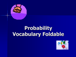 Probability Vocabulary Foldable