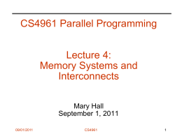 Memory systems and interconnect