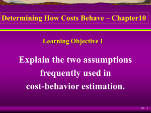 Cost Behaviour(10)