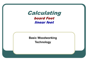Calculating Board Feet Powerpoint