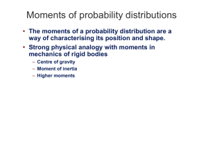Moments of probability distributions