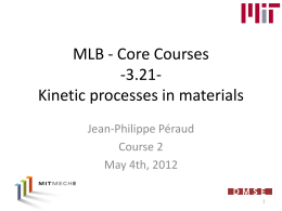 MLB - Core Courses -3.21- Kinetic processes in materials