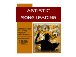 Artistic Song Leading (Lesson 4)