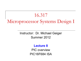 F, 8/3 - Michael J. Geiger, Ph.D.