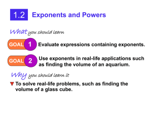 1.2: Exponents and Powers