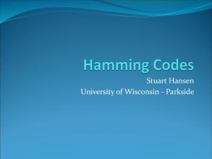 Hamming Codes.pdf - Nifty Assignments