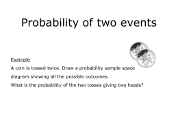Probability of two events