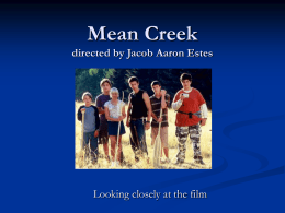 Mean Creek questions - aucklandsecondaryenglish