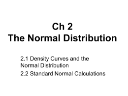 Ch 2 The Normal Distribution