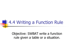 4.4 Writing a Function Rule
