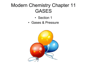 Modern Chemistry Chapter 11 GASES