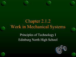 Chapter 2.1.1 Work in Mechanical Systems - Zamorascience