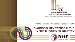 A diagnosis of key trends in the medical schemes industry