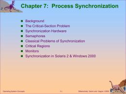 Silberschatz synchronization.