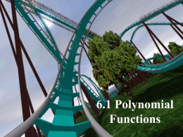 6.1 Polynomial Operations