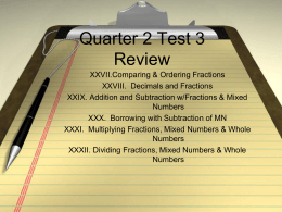 Quarter 3 Test 3 Review