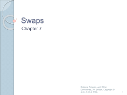 Swaps - Banks and Markets
