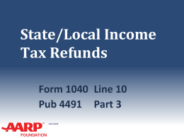 Income - Aarp-tax-aide