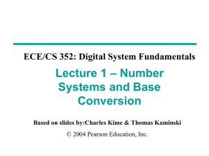 Chapter 1 - PPT - Mano & Kime - 3rd Ed - ECE/CS 352 On