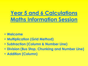 Calculation Policy - Y5 & Y6