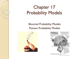 Chapter 17 The Binomial and Poisson Models