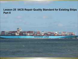 Lesson 25 IACS repair standard II