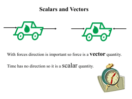 Scalars and Vector - Kelso High School