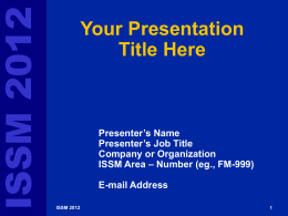 This is the Standard Intel PowerPoint Template for On
