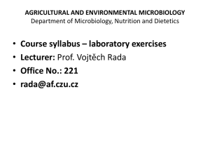 AGRICULTURAL AND ENVIRONMENTAL MICROBIOLOGY