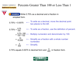 Percents Greater Than 100 or Less Than 1(6