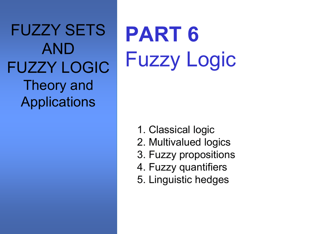 Set its fuzzy theory applications pdf and