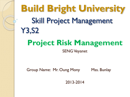 1. Project Risk Management – BBU