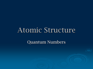 Quantum Numbers Power Point