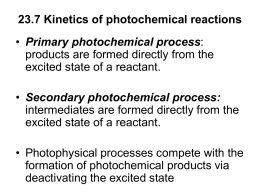 Secondary photochemical process