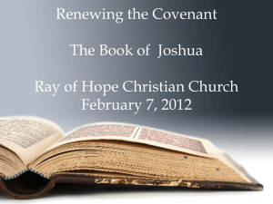 Renewing The Covenant: Joshua