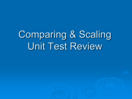 Comparing & Scaling Unit Test Review